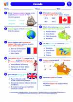 Social Studies - Eighth Grade - Worksheet: Canada