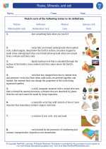 Science - Third Grade - Vocabulary: Rocks, Minerals, and soil