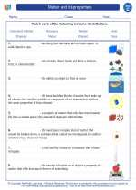 Science - Third Grade - Vocabulary: Matter and its properties
