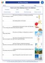 Science - Third Grade - Vocabulary: Energy