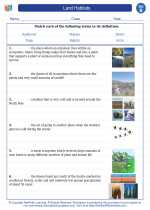 Science - Second Grade - Vocabulary: Land Habitats