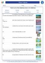 Science - Second Grade - Vocabulary: Water Habitats