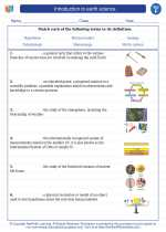 Science - Sixth Grade - Vocabulary: Introduction to earth science
