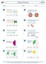 Mathematics - Sixth Grade - Worksheet: Ordering Fractions