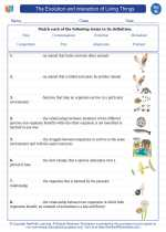 Science - Eighth Grade - Vocabulary: The Evolution and interaction of Living Things