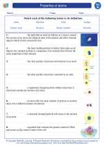 Science - Eighth Grade - Vocabulary: Properties of atoms