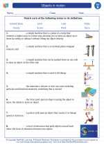 Science - Second Grade - Vocabulary: Objects in motion