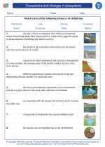 Science - Fourth Grade - Vocabulary: Ecosystems and changes in ecosystems