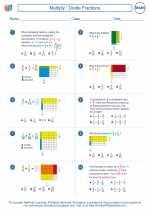 Mathematics - Sixth Grade - Worksheet: Multiply/Divide Fractions
