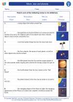 Science - Second Grade - Vocabulary: Moon, star and planets