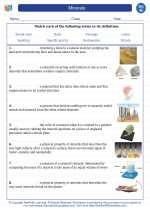 Science - Eighth Grade - Vocabulary: Minerals