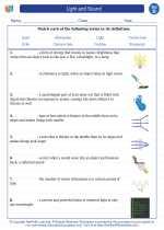 Science - Fourth Grade - Vocabulary: Light and sound