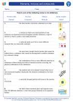 Science - Fifth Grade - Vocabulary: Elements, mixtures and compounds