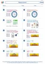 Mathematics - Sixth Grade - Worksheet: Measurement