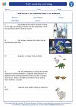 Science - Second Grade - Vocabulary: Earth yesterday and today