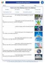 Science - Eighth Grade - Vocabulary: Understanding Weather