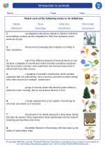 Science - Fourth Grade - Vocabulary: Introduction to animals