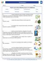 Biology - High School - Vocabulary: Vertebrates I