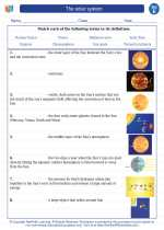 Science - Fifth Grade - Vocabulary: The solar system