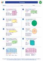 Mathematics - Sixth Grade - Worksheet: Formulas
