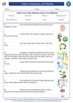 Science - Sixth Grade - Vocabulary: Fishes, Amphibians, and Reptiles
