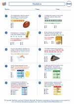 Mathematics - Sixth Grade - Worksheet: Statistics