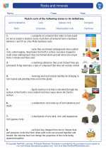Science - Fourth Grade - Vocabulary: Rocks and minerals