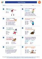 English Language Arts - Third Grade - Worksheet: Verb Endings