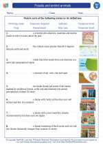 Science - Fourth Grade - Vocabulary: Fossils and extinct animals