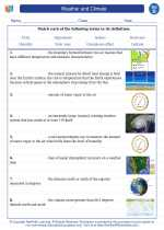 Science - Fourth Grade - Vocabulary: Weather and climate