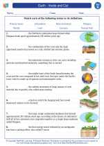 Science - Fourth Grade - Vocabulary: Earth - Inside and Out