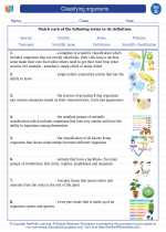 Science - Fourth Grade - Vocabulary: Classifying organisms