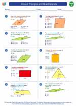 Mathematics - Sixth Grade - Worksheet: Area of Triangles and Quadrilaterals