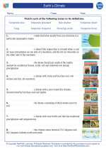 Earth Science - High School - Vocabulary: Earth`s Climate