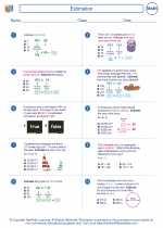 Mathematics - Sixth Grade - Worksheet: Estimation