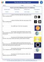 Science - Seventh Grade - Vocabulary: The Sun-Earth-Moon System