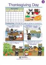 Social Studies - Fourth Grade - Worksheet: Thanksgiving Day