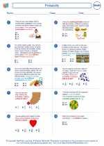 Mathematics - Sixth Grade - Worksheet: Probability