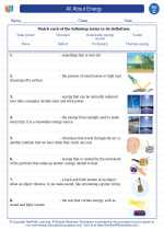Science - Third Grade - Vocabulary: All About Energy