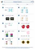 Mathematics - Sixth Grade - Worksheet: Simplify Fractions