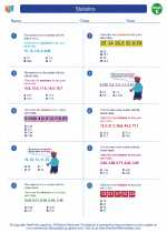 Mathematics - Fifth Grade - Worksheet: Statistics