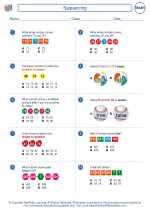 Mathematics - Second Grade - Worksheet: Sequencing