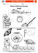 English Language Arts - Kindergarten - Worksheet: Same & Different Sounds