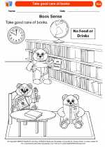 English Language Arts - Kindergarten - Worksheet: Take good care of books