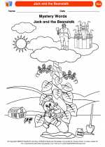 English Language Arts - Kindergarten - Worksheet: Jack and the Beanstalk