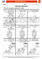 English Language Arts - Kindergarten - Worksheet: Nursery Rhymes