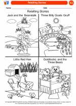 English Language Arts - Kindergarten - Worksheet: Retelling Stories