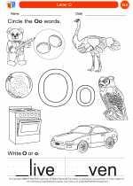 English Language Arts - Kindergarten - Worksheet: Letter O