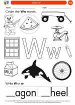 English Language Arts - Kindergarten - Worksheet: Letter W