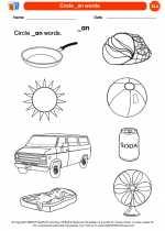 English Language Arts - Kindergarten - Worksheet: Circle _an words.